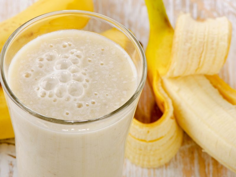 Smoothie banane onctueux