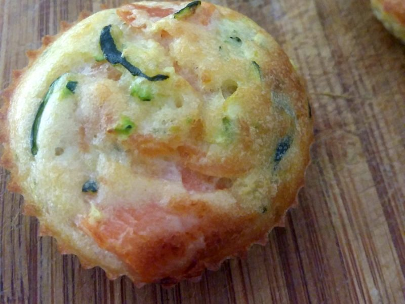 Muffins saumon courgettes